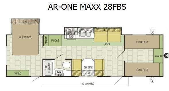 AR-ONE MAXX 28FBS Floorplan Image
