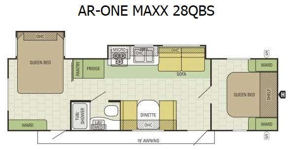 AR-ONE MAXX 28QBS Floorplan Image