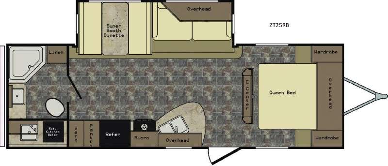 Zinger ZT25RB Floorplan Image
