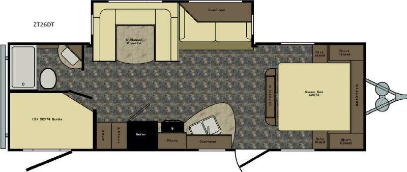 Zinger ZT26DT Floorplan Image