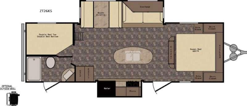 Floorplan - 2017 CrossRoads RV Zinger ZT26KS