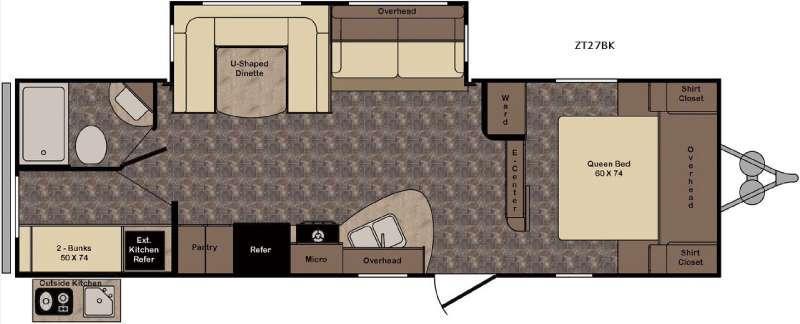 Zinger ZT27BK Floorplan Image