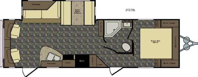 Zinger ZT27RL Floorplan Image