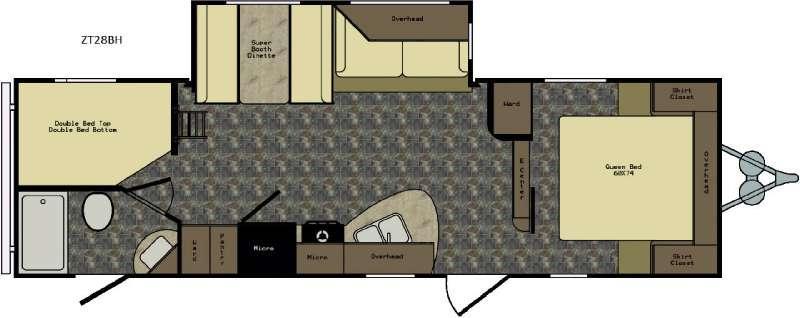Zinger ZT28BH Floorplan Image