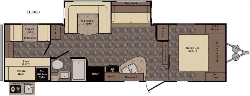 Zinger ZT30QB Floorplan Image