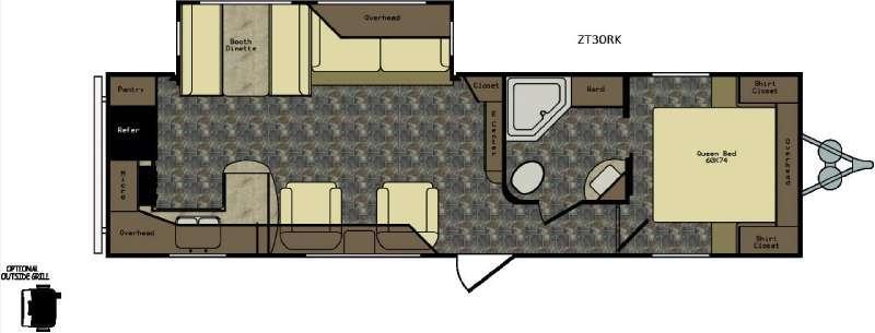 Zinger ZT30RK Floorplan Image