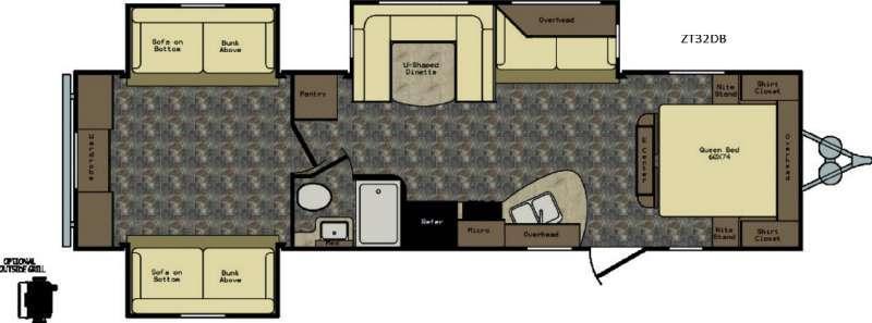 Zinger ZT32DB Floorplan Image