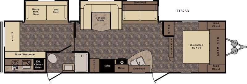 Zinger ZT32SB Floorplan Image