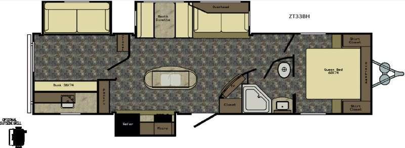 Zinger ZT33BH Floorplan Image