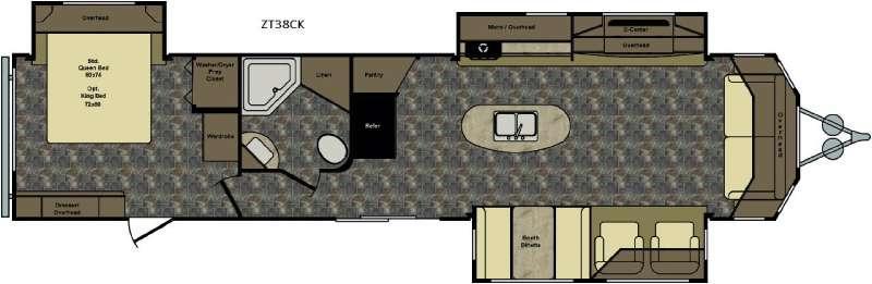 Zinger ZT38CK Floorplan Image