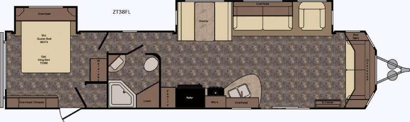 Zinger ZT38FL Floorplan Image