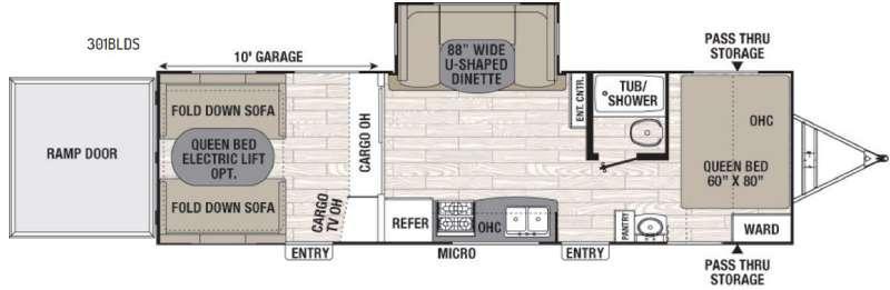 Freedom Express Blast 301BLDS Floorplan Image