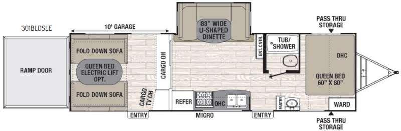 Freedom Express Blast 301BLDSLE Floorplan Image