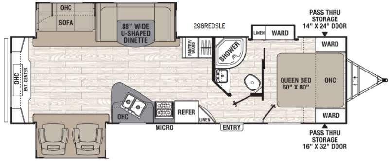 Floorplan - 2017 Coachmen RV Freedom Express Liberty Edition 298REDS