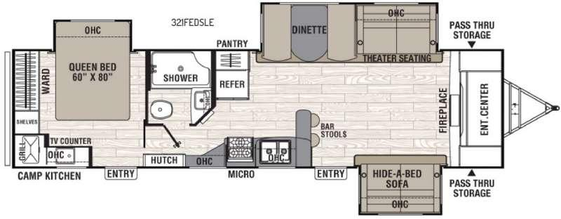 Floorplan - 2017 Coachmen RV Freedom Express Liberty Edition 321FEDS
