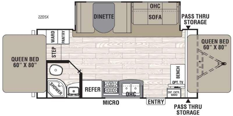 Floorplan - 2017 Coachmen RV Freedom Express 22DSX
