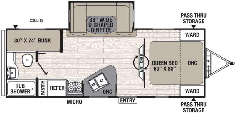 Freedom Express 236BHS Floorplan Image