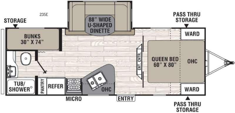 Floorplan - 2017 Coachmen RV Freedom Express 23SE