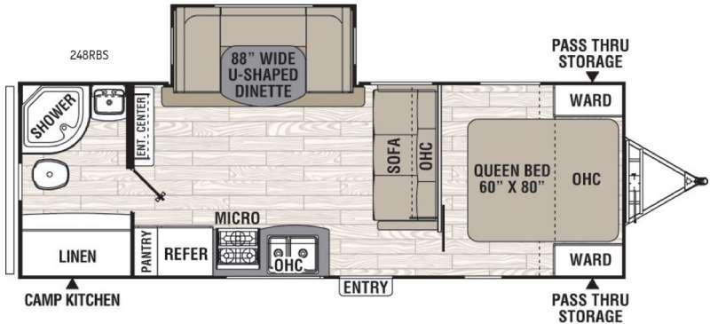 Floorplan - 2017 Coachmen RV Freedom Express 248RBS