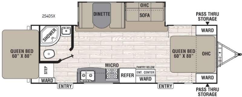Floorplan - 2017 Coachmen RV Freedom Express 254DSX