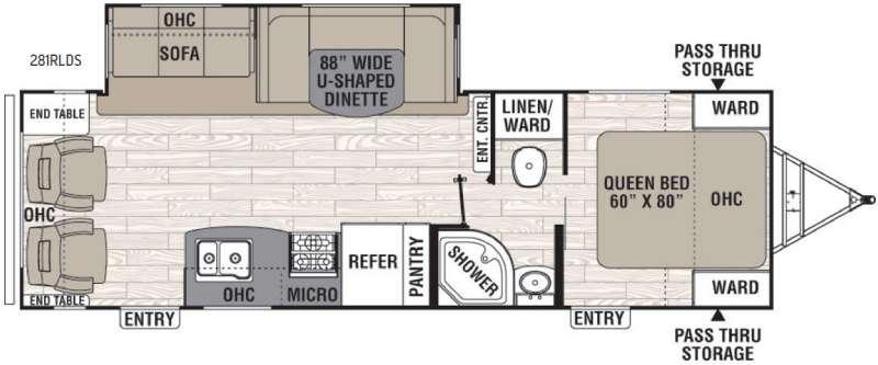 Freedom Express 281RLDS Floorplan Image