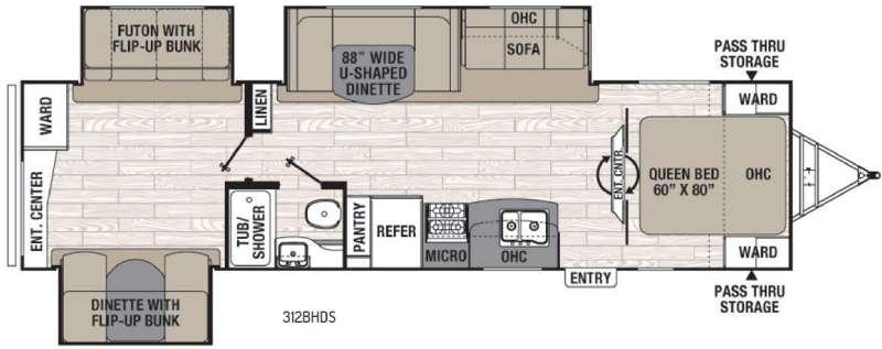 Freedom Express 312BHDS Floorplan Image