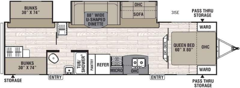 Floorplan - 2017 Coachmen RV Freedom Express 31SE