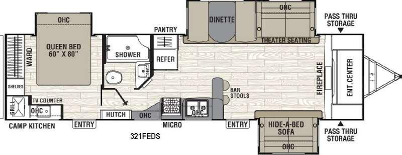 Freedom Express 321FEDS Floorplan Image