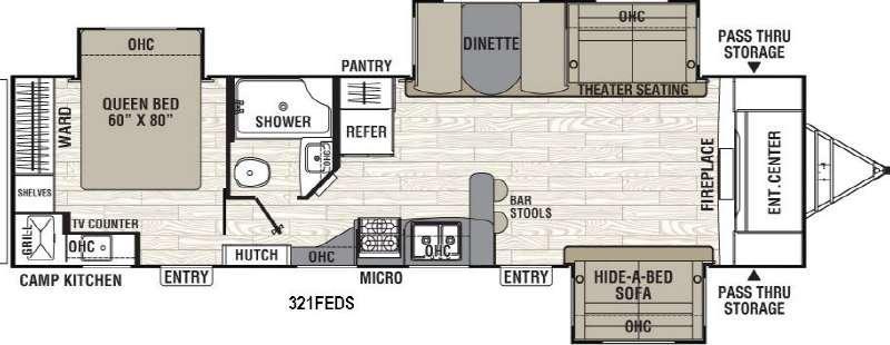 Freedom Express 321FEDS Floorplan Image