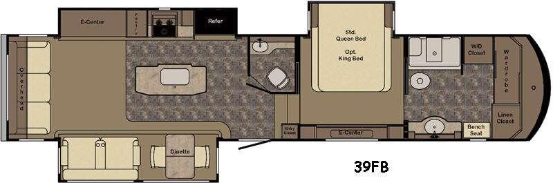 Carriage CG39FB Floorplan Image