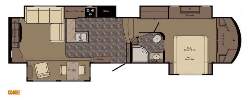 Carriage CG40RE Floorplan Image