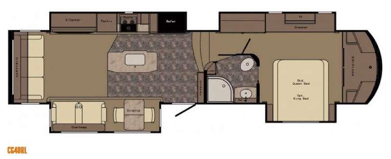 Carriage CG40RL Floorplan Image