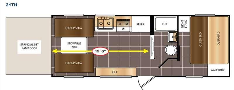 Floorplan - 2017 Prime Time RV Avenger 21TH