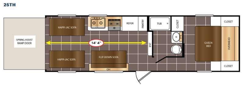 Avenger 25TH Floorplan Image