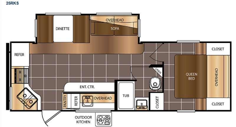 Avenger 25RKS Floorplan Image