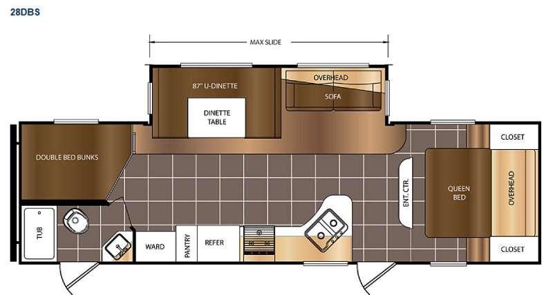 Avenger 28DBS Floorplan Image