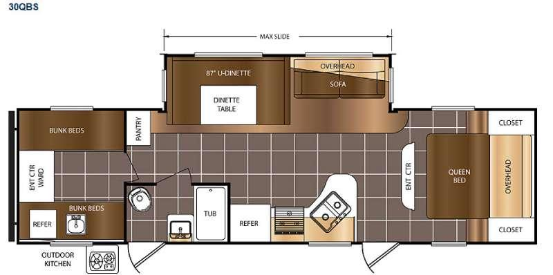 Floorplan - 2017 Prime Time RV Avenger 30QBS