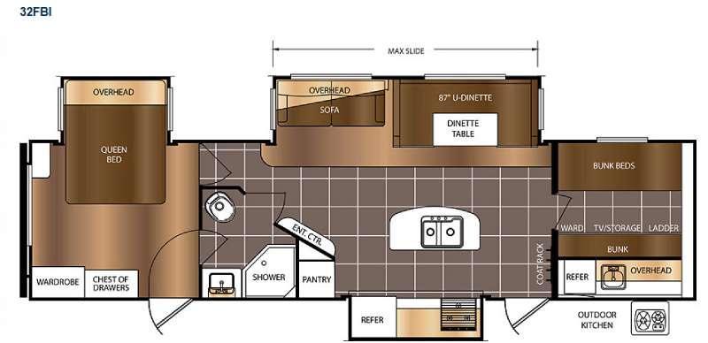 Avenger 32FBI Floorplan Image