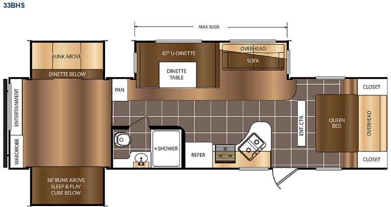 Avenger 33BHS Floorplan Image