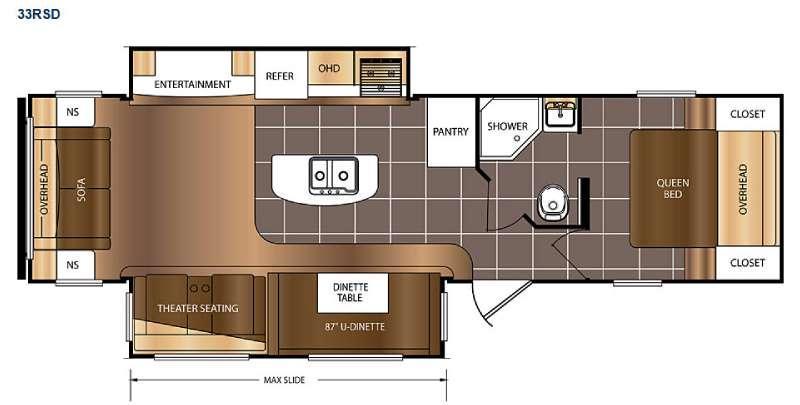 Avenger 33RSD Floorplan Image