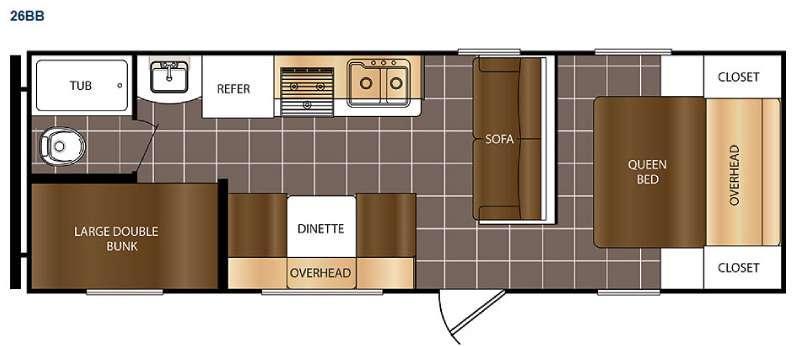 Avenger ATI 26BB Floorplan Image