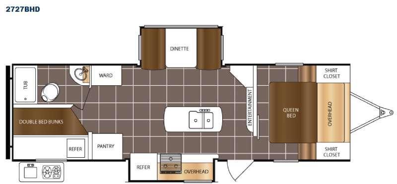 Tracer 2727BHD Floorplan Image