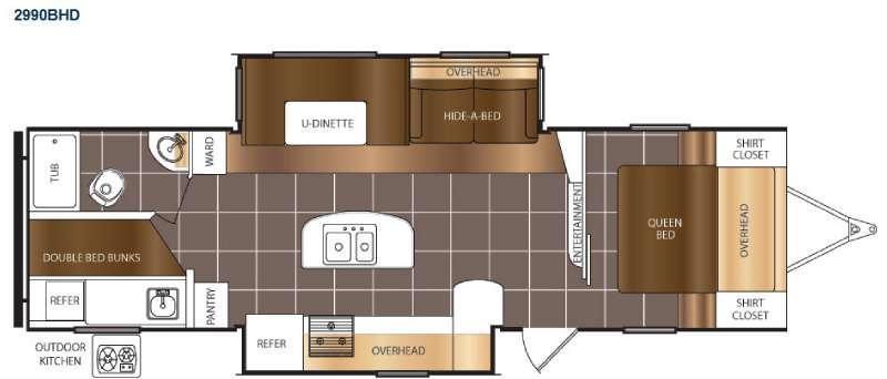 Tracer 2990BHD Floorplan Image