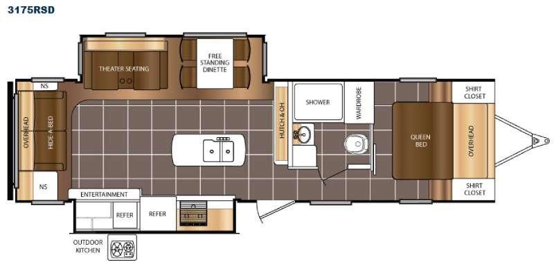 Floorplan - 2017 Prime Time RV Tracer 3175RSD