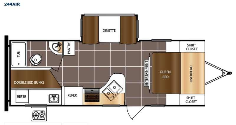 Tracer Air 244AIR Floorplan Image