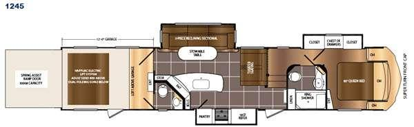 Floorplan - 2017 Prime Time RV Spartan 1245