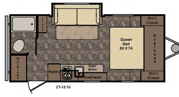 Z 1 Lite ZT18SS Floorplan Image