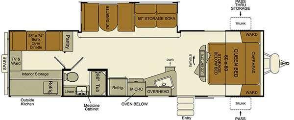 Floorplan - 2017 EverGreen RV i-Go G280QB