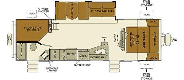 i-Go G291DBS Floorplan Image