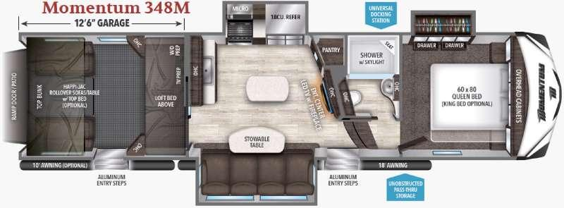 Floorplan - 2017 Grand Design Momentum M-Class 348M